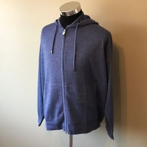 Peter Millar 2XL blue cashmere hoodie NWT $395